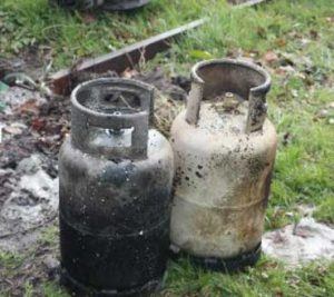 LPG Cylinders after a fire